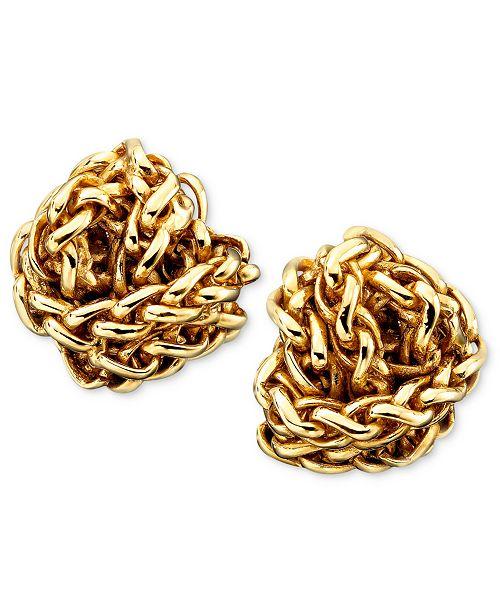 Lauren Ralph Lauren Gold-Tone Woven Earrings