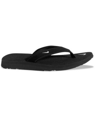 women's nike black flip flops