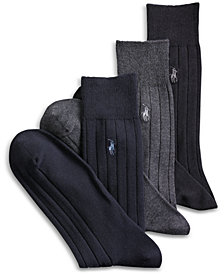 Polo Ralph Lauren 3-Pack Cotton Rib Extended Size Casual Men's Socks