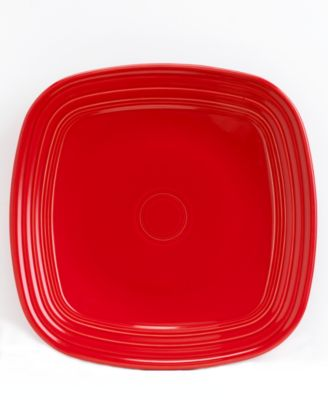 Scarlet Square Dinner Plate