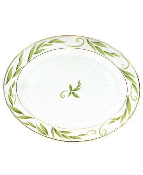 "Bernardaud ""Frivole"" Oval Platter, 13"""