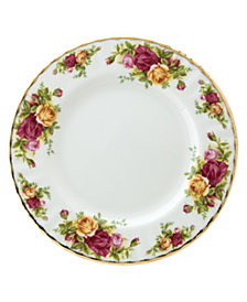 "Royal Albert Old Country Roses 8"" Salad Plate"