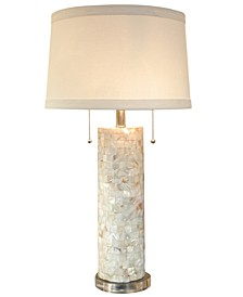 Regina Andrew Design Mother of Pearl Column Table Lamp