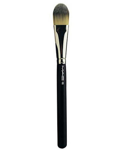 how to clean foundation brush mac