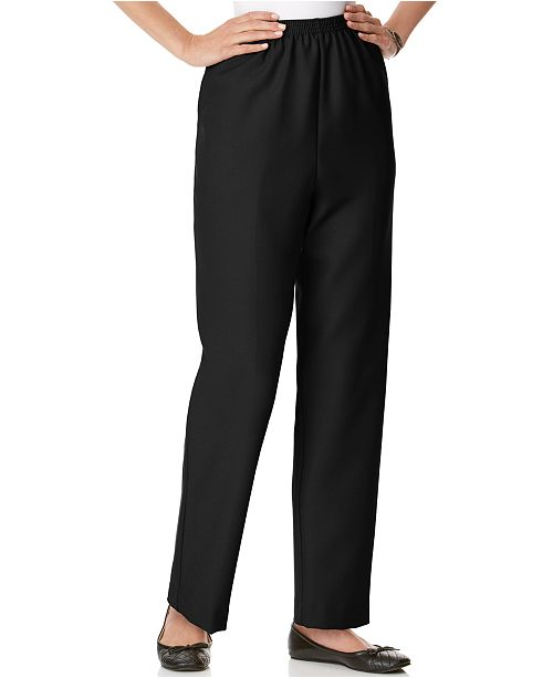032697f71cc Alfred Dunner Petite Classics Pull-On Straight-Leg Pants   Reviews ...