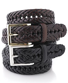 Big & Tall Braided Leather Belt