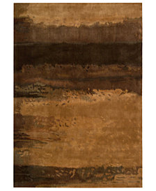 Calvin Klein Home Area Rug, CK10 SW09 Copper 3' x 5'