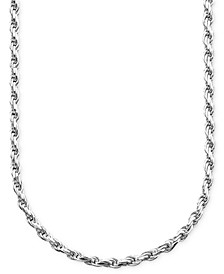 "20"" Sterling Silver Necklace, Diamond Cut Rope"