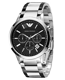 Emporio Armani Watch, Men's Chronograph Stainless Steel Bracelet 43mm AR2434