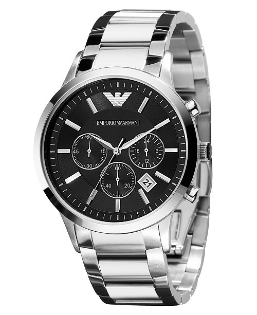 a0121194 Watch, Men's Chronograph Stainless Steel Bracelet 43mm AR2434
