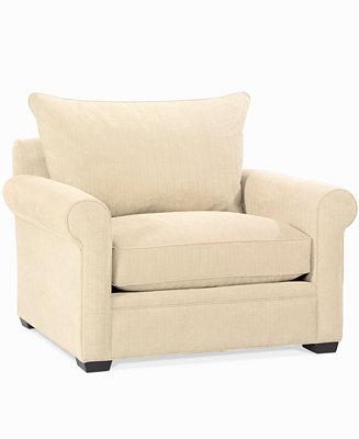 Dial Fabric Microfiber Living Room Chair Custom Colors Furniture Macy 39 S