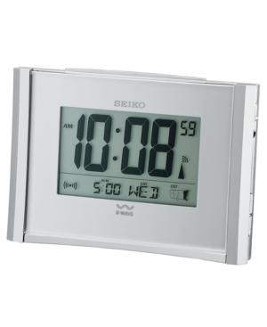 Seiko Silver-Tone Digital Alarm Clock QHR015SLH