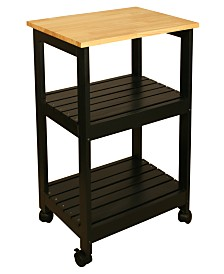 Catskill Craft Black Kitchen Cart