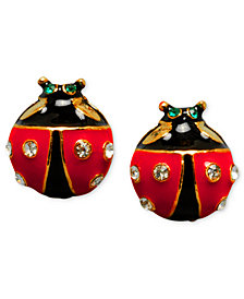 Betsey Johnson Ladybug Stud Earrings