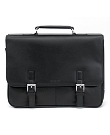 Manhattan Leather Single Gusset Laptop Briefcase
