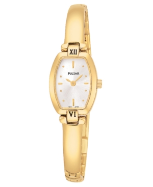 Pulsar Watch, Women's Gold-Tone Stainless Steel Bracelet PEGA68