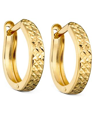 10k gold hoop earrings earrings jewelry watches macy s