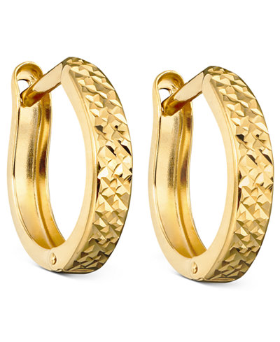 gold hoop earrings 10k gold hoop earrings earrings jewelry watches macy s 3775