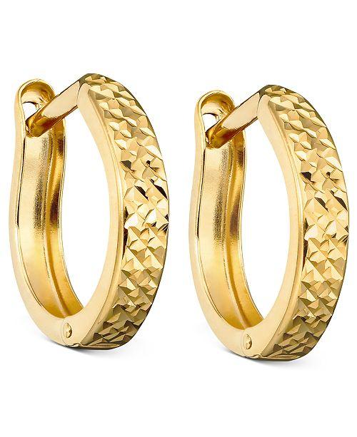 Macy S 10k Gold Hoop Earrings Reviews Earrings Jewelry