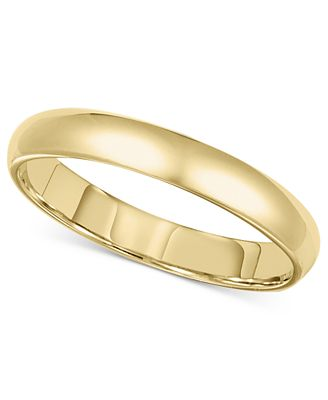 14k Gold 3mm fort Fit Wedding Band Rings Jewelry & Watches