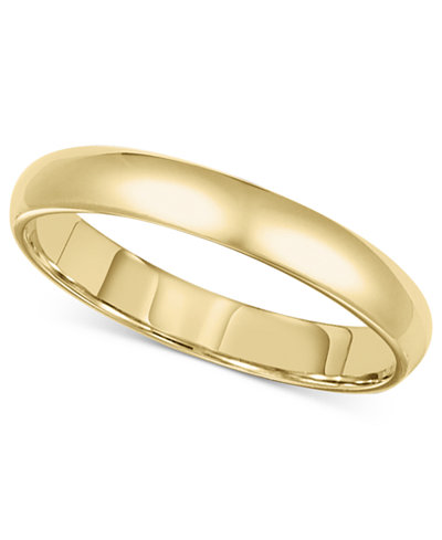 14k gold 3mm comfort fit wedding band - Wedding Band Ring