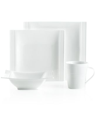 main image  sc 1 st  Macyu0027s & Lenox Dinnerware Tin Can Alley Square 4 Piece Place Setting ...