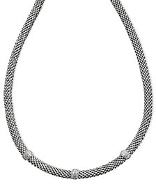 Diamond Mesh Necklace in Sterling Silver (1/4 ct. t.w.)