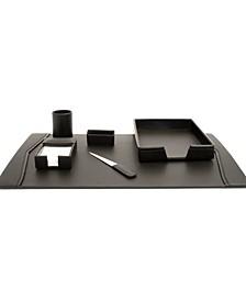 Leather 6 Piece Desk Set