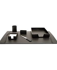 Bey-Berk Leather 6 Piece Desk Set
