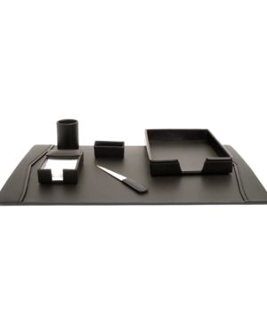 Bey-Berk Leather 6 Piece Desk Set