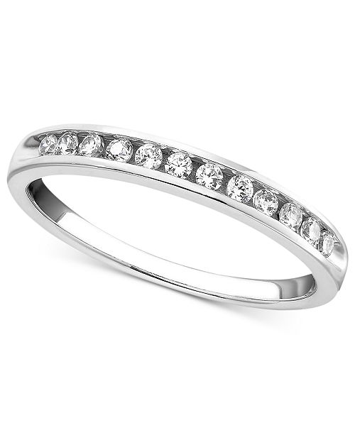 Macy's Diamond Band Ring in 14k Gold or White Gold (1/4 ct. t.w.)