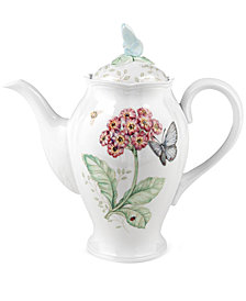 "Lenox ""Butterfly Meadow"" Coffeepot"