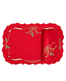 Lenox Holiday Nouveau Cutwork Napkin and Placemat Collection