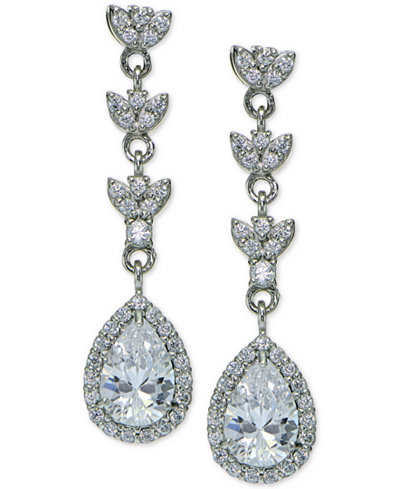Giani bernini cubic zirconia halo triple drop earrings in for Macy s jewelry clearance