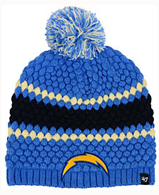 '47 Brand Women's Los Angeles Chargers Leslie Pom Knit