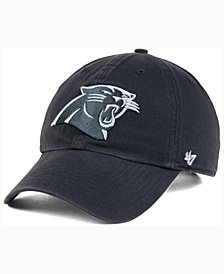 '47 Brand Carolina Panthers Charcoal White Clean Up Cap