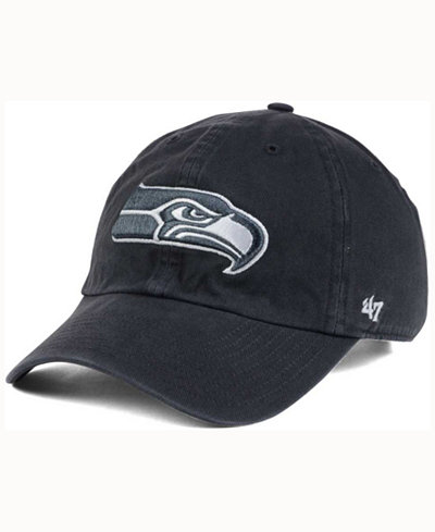 '47 Brand Seattle Seahawks Charcoal White Clean Up Cap
