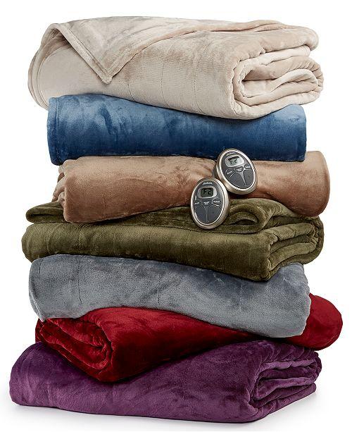 Slumber Rest Velvet Plush Electric Twin Blanket By