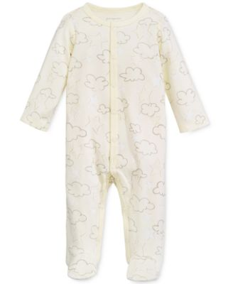 Baby Boys & Girls Cloud-Print Footed Coverall, Created for Macy's