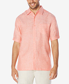 Cubavera Men's Crosshatch 100% Linen Short-Sleeve Shirt