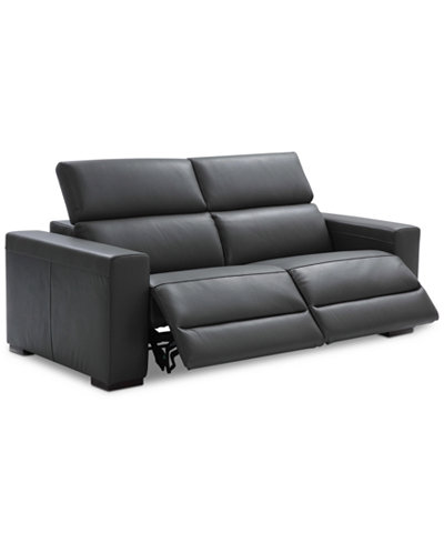 Nevio 82 Quot 2 Pc Leather Sofa With 2 Power Recliners And