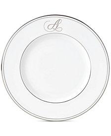 Lenox Federal Platinum Monogram Accent Plate, Script Letters
