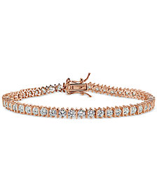 Giani Bernini Cubic Zirconia Boxed Tennis Bracelet in 18k Rose Gold-Plated, 18k Yellow Gold-Plated Sterling Silver and Sterling Silver, Created for Macy's