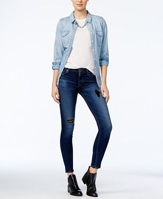 Hudson Jeans Nico Tipping Point Wash Super Skinny Jeans