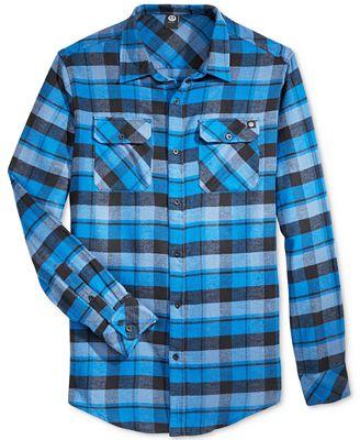 Neff Men's Elliot Flannel Shirt - Casual Button-Down Shirts - Men ...