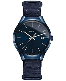 Rado Unisex Swiss True Blue NATO Nylon Strap Watch 40mm R27235206