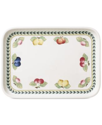 French Garden Rectangular Baking Lid & Serving Plate
