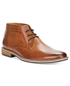 Alfani Men's Jason Leather Lace-Up Boots, Created for Macy's