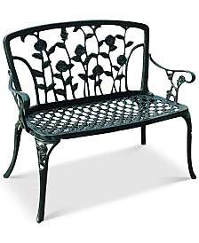 Jenison Cast Iron Patio Bench, Quick Ship