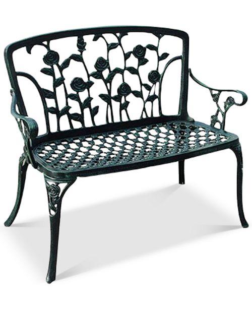 Noble House Jenison Cast Iron Patio Bench